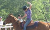 Blind Horse Competes and Wins in Barrel Racing