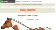 Ponybox Horse Sim Game Graphic Sale Feature