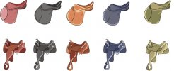 Free Horse Vector Graphics #31 - Saddle Pack
