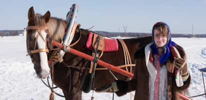 Towing a Toboggan Behind a Horse