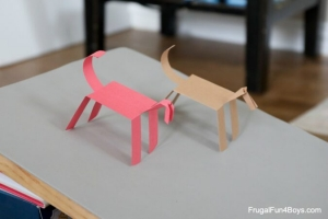 Make A Walking Paper Horse